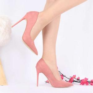 Pantofi cu toc cod BF102601F Roz - Pantofi cu toc ascuțit din piele ecologică întoarsă cu un design unic, fii in pas cu moda si străluceste la urmatoarea petrecere. - Deppo.ro