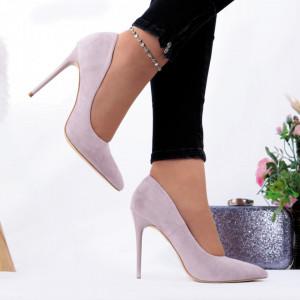 Pantofi cu toc cod EK0014 Purple - Pantofi cu toc din piele ecologică cu un design unic, fii în pas cu moda şi străluceşte la următoarea petrecere. - Deppo.ro