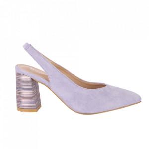 Pantofi cu toc cod OD0220 Purple