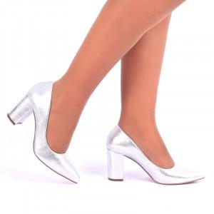 Pantofi cu toc cod S2212 Arginti