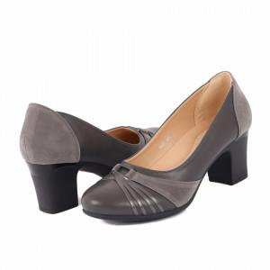Pantofi cu toc cod X25 Gri