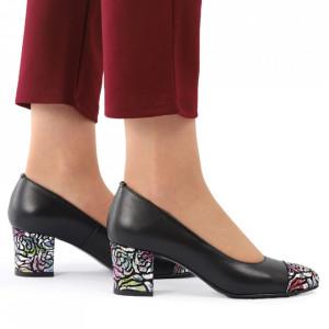 Pantofi cu toc din piele naturală cod 04 NIMP - Pantofi cu toc din piele naturală moale, foarte comozi, acești pantofi vă conferă lejeritate și eleganță - Deppo.ro