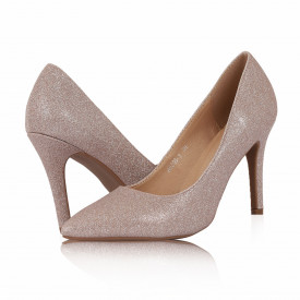 Pantofi Cu Toc Heather Champagne