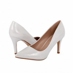 Pantofi Cu Toc Madelyn Silver