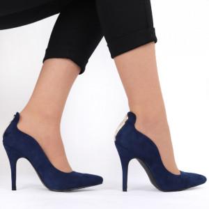 Pantofi cu toc pentru dame cod 1146 Blue