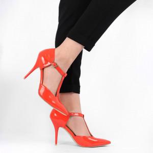 Pantofi cu toc pentru dame cod ZR212 Orange