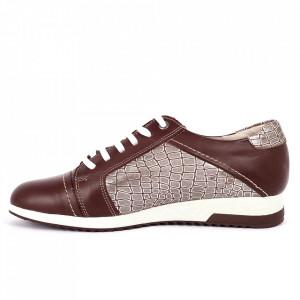 Pantofi din piele naturală bordo Cod 486 - Pantofi damă din piele naturală, foarte confortabili cu un tălpic special care conferă lejeritate chiar și în cazurile în care petreci mult timp stând în picioare. - Deppo.ro