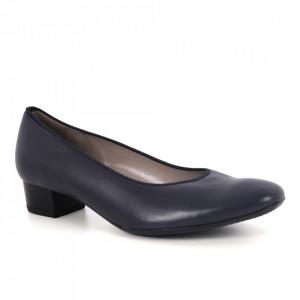 Pantofi din piele naturală cod 02G BLUE