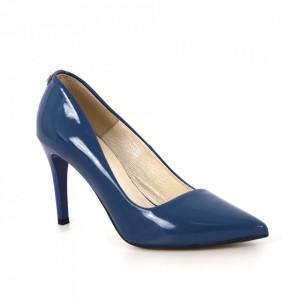 Pantofi din piele naturală cod 0760/A Blue