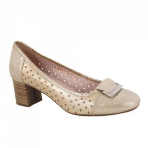 Pantofi din piele naturală cod 1-V Gold