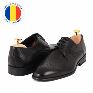 Pantofi din piele naturală cod 116 Black