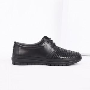Pantofi din piele naturală cod 16740 Negri - Pantofii îți transformă limbajul corpului și atitudinea. Te înalță fizic și psihic! Pantofi pentru dame din piele naturală - Deppo.ro
