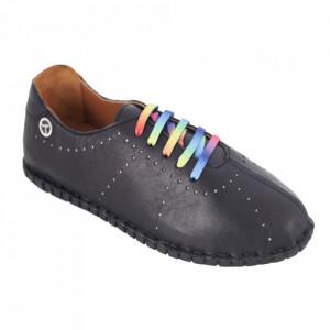 Pantofi din piele naturală cod 2000 Black