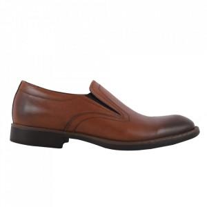 Pantofi din piele naturală cod 310 Maro