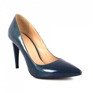 Pantofi din piele naturală cod 64317 Blue