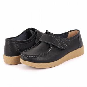 Pantofi din piele naturală cod 8518 Negri