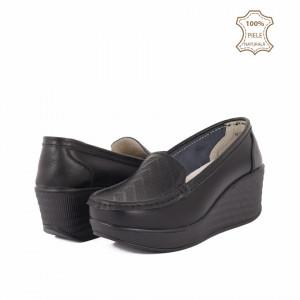 Pantofi din piele naturală cod H1789 Negri