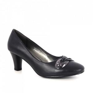 Pantofi din piele naturală cod SD903-1 Black