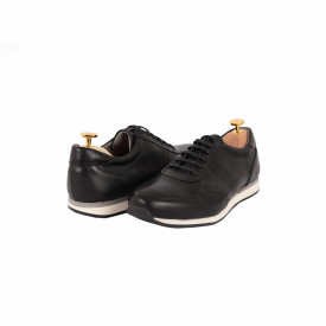 Pantofi din piele naturală Marvin Negru