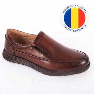 Pantofi din piele naturală pentru bărbați cod 178 Maro