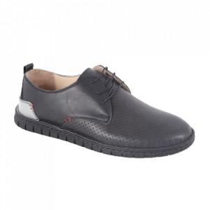 Pantofi din piele naturală pentru bărbați cod 21911 Siyah