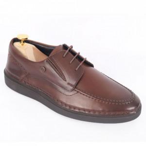 Pantofi din piele naturală pentru bărbați cod 300 Maro