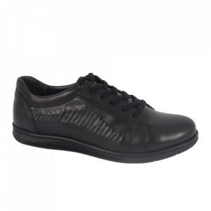 Pantofi din piele naturală pentru bărbați cod 3679 Siyah