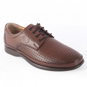 Pantofi din piele naturală pentru bărbați cod C8262-1 Taba