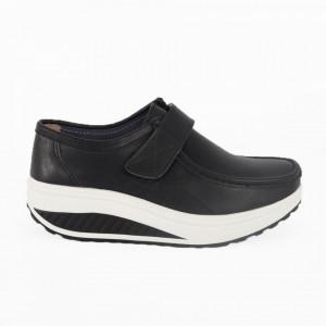 Pantofi din piele naturală pentru dame cod A333 Black