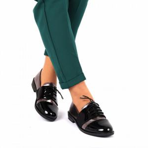 Pantofi pentru dame cod F20 Negri Gun