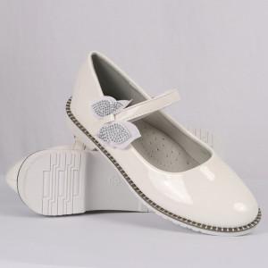 Pantofi pentru fete cod 1915 Albi