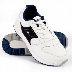 Pantofi sport pentru băieți cod 9215 White