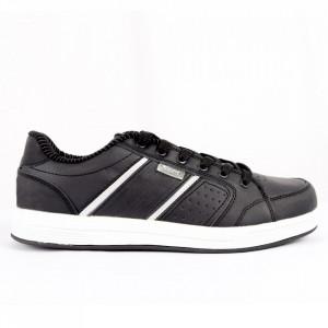 Pantofi Sport pentru bărbați cod 9188 Black - Pantofi sport pentru bărbați Ideali pentru ieșiri si practicarea exercitiilor în aer liber - Deppo.ro