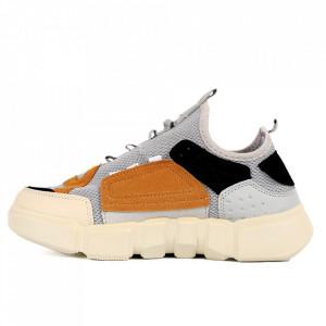 Pantofi Sport pentru bărbați cod BZ044 Yellow - Pantofi sport pentru bărbați  Ideali pentru ieșiri si practicarea exercitiilor în aer liber - Deppo.ro