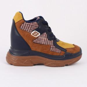 Pantofi Sport pentru dame Cod FR-8081 Navy Camel