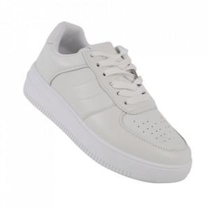 Pantofi sport pentru dame cod J1859 White
