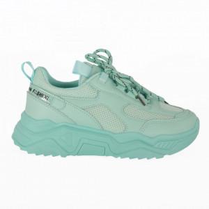 Pantofi Sport pentru dame cod K861 All Green - Pantofi sport pentru dame  Foarte comozi  Închidere prin șiret  Ideali pentru ieșiri și practicarea exercițiilor în aer liber - Deppo.ro