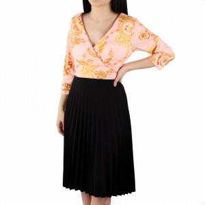 Rochie Ariona Peach - Rochie de zi casual cu decor floral, pentru o ținută lejeră datorita croiului îți asigura libertatea de mișcare. - Deppo.ro