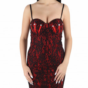 Rochie Bianca Red - Rochie elegantă cu material dantelat, pune-ți silueta în evidență și atrage toate privirile - Deppo.ro