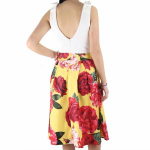 Rochie Celia Yellow - Rochie scurtă, elegantă dar în același timp lejeră cu un design floral - Deppo.ro