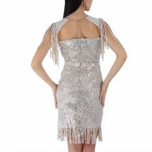 Rochie Danielle Gold - Rochie elegantă cu paiete, simte-te atrăgătoare purtând această rochie și strălucește la urmatoarea petrecere. - Deppo.ro