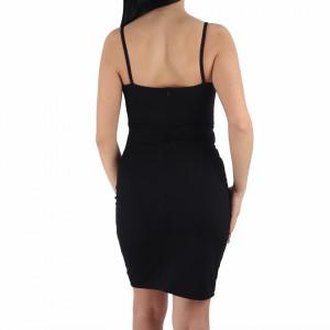 Rochie Kamora Black - Rochie elegantă, mulată cu spatele gol, completează-ți ținuta și strălucește la următoarea petrecere. - Deppo.ro