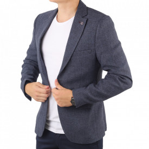Sacou CNR 45 - Ideal pentru o ținută casual de zi care poate fii purtat atât cu cămașă cât și cu helancă Compoziție: 85% bumbac, 15% polyester - Deppo.ro