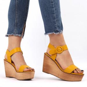 Sandale cu platforma cod AG 012 Yellow