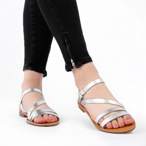 Sandale cu talpă joasă cod M38 Silver