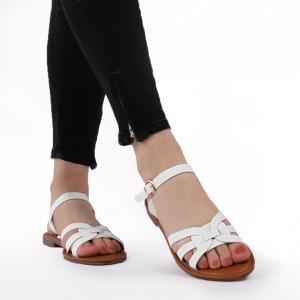 Sandale cu talpă joasă cod M40 White
