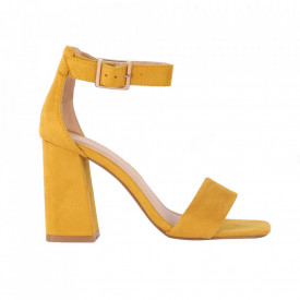 Sandale din piele ecologică cod OD0227 Yellow fabric