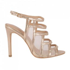 Sandale din piele ecologică cod OD0239 Champagne