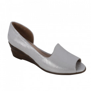 Sandale din piele naturală cod 0635 White Silver