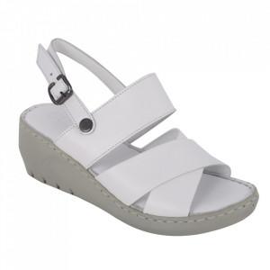 Sandale din piele naturală cod 240 Beyaz